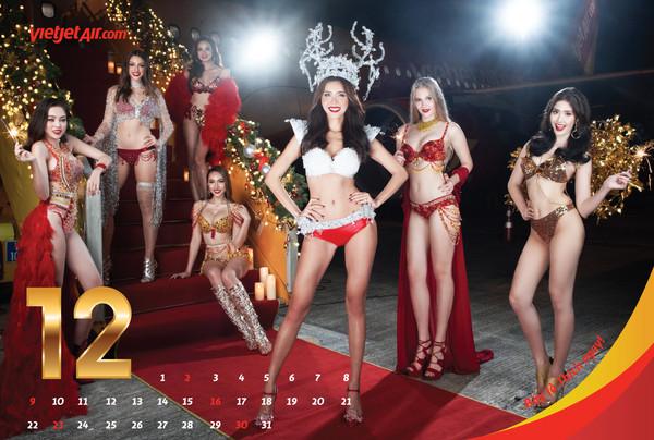 ▲越捷航空推2018全新「比基尼」月曆。(圖/越捷航空提供)