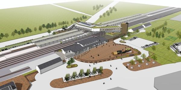 ▲台鐵斗南車站改建動工,將成「跨站式站房」。(圖/台鐵提供)
