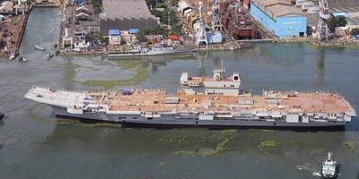 開工10年 印度國產航母終於發動測試