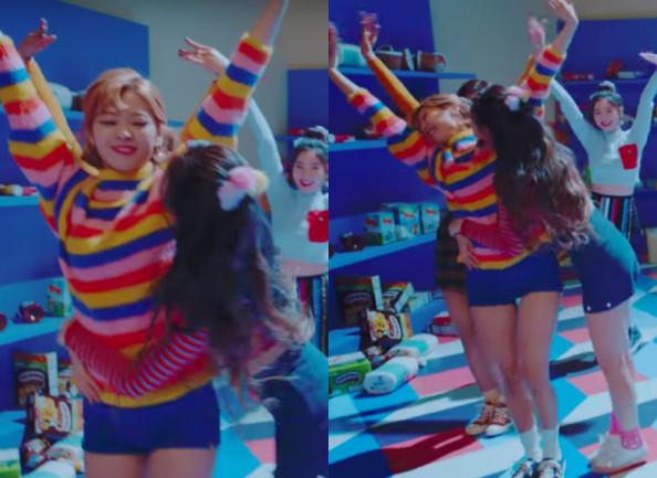 ▲▼子瑜、Sana跳舞踉蹌失誤! JYP認「故意剪進去MV」(圖/翻攝自JYP Youtube)