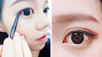 眼睛垂直距離X2!瞇眼女友畫上眼線 暖男傻楞:終於睡飽了