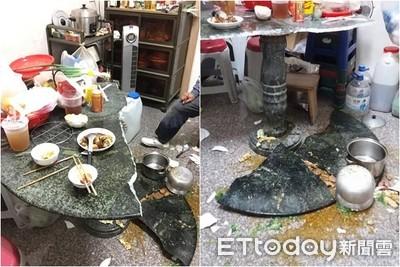 阿嬤滷肉壓垮大理石桌 晚餐全毀