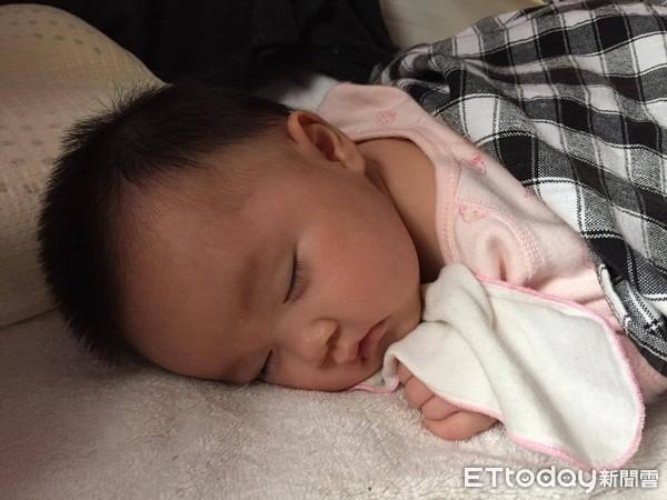 寶寶,嬰兒,睡眠,睡覺。(圖/記者李佳蓉攝)