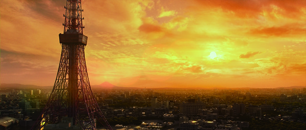 ▲山崎貴2005年執導《三丁目的夕陽》,電影最後蓋到一半的東京鐵塔和夕陽十分經典。(圖/翻攝自推特)
