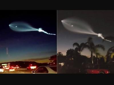 「外星人來啦!」空中突現神秘光球,火箭升空形狀太奇怪嚇歪民眾