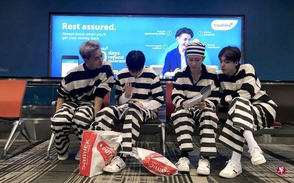 ▲Winner為《花樣青春》穿囚衣前往澳洲。(圖/翻攝自tvN)