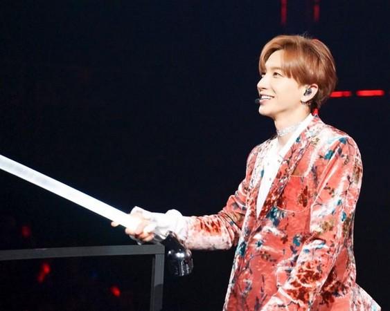 ▲▼利特演唱會喊話「你過得好嗎」 韓庚:我也挺想你們。(圖/翻攝自SMTOWN NOW)