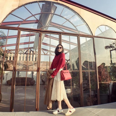 ▲Doris時常在臉書、IG分享穿搭和出遊照。(圖/翻攝自Doris`s fashion diary臉書)