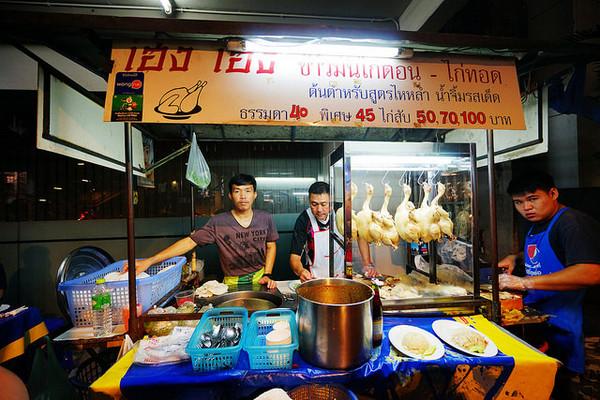 ▲曼谷街頭興興海南雞飯。(圖/快樂雲提供)