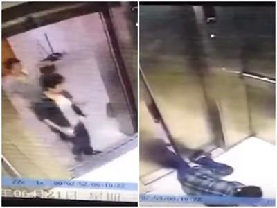 女子低頭跌進電梯,大門夾腿後「電梯上樓」…削成兩半