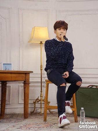 ▲厲旭。(圖/翻攝自Super Junior臉書)