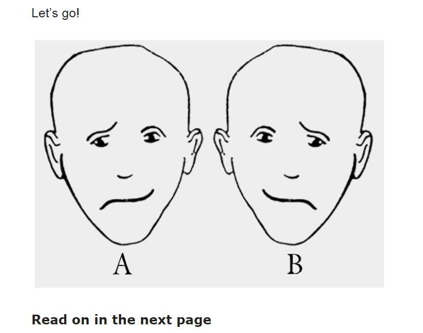 圖中誰比較快樂?測你的大腦優勢。(圖/取自《The Minds Journal》網站)