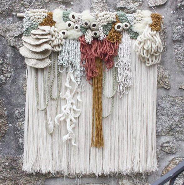 ▲西班牙艺术家Vanessa Barragão艺术织毯。(图/翻摄vanessabarragao_work IG)