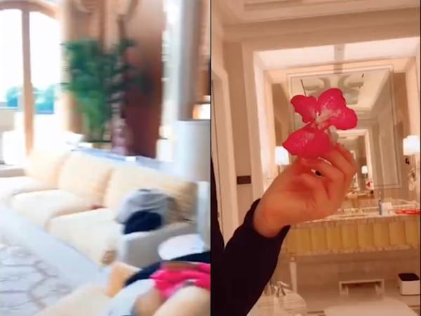 ▲章子怡繼女自拍,疑曝光家中內部裝修。(圖/翻攝「娛樂有飯」微博)