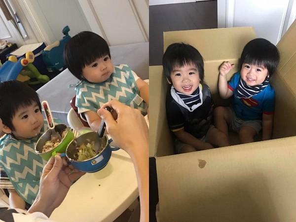 ▲林志穎的雙胞胎兒子Jenson與Kyson。(圖/翻攝自林志穎臉書)