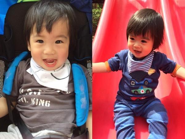 ▲林志穎的雙胞胎兒子中,哥哥Jenson臉較長、弟弟Kyson臉較圓。(圖/翻攝自林志穎臉書)