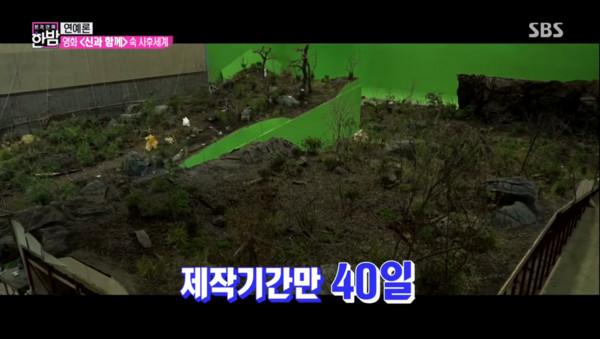 ▲各大地獄的實際搭攝場景。(圖/翻攝自SBS Entertainment YOUTUBE)