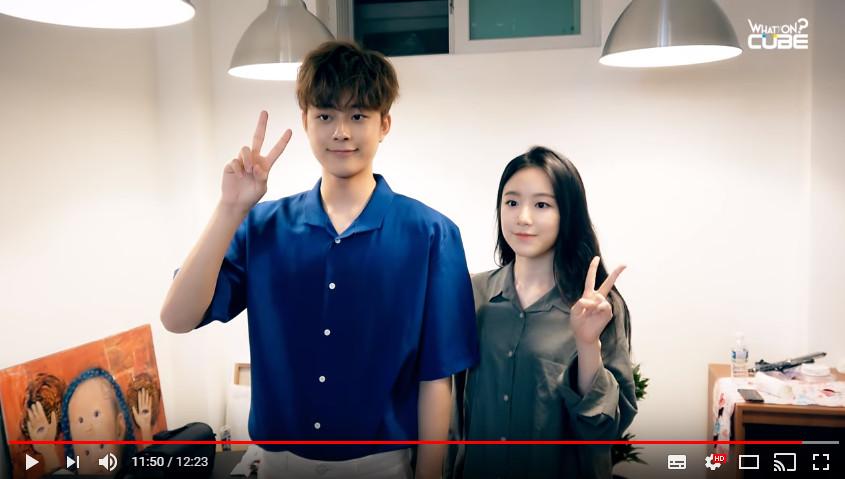 ▲▼CUBE推新女團傳「有台灣成員」 曾搭檔柳善皓扮情侶。(圖/翻攝自YouTube United CUBE )