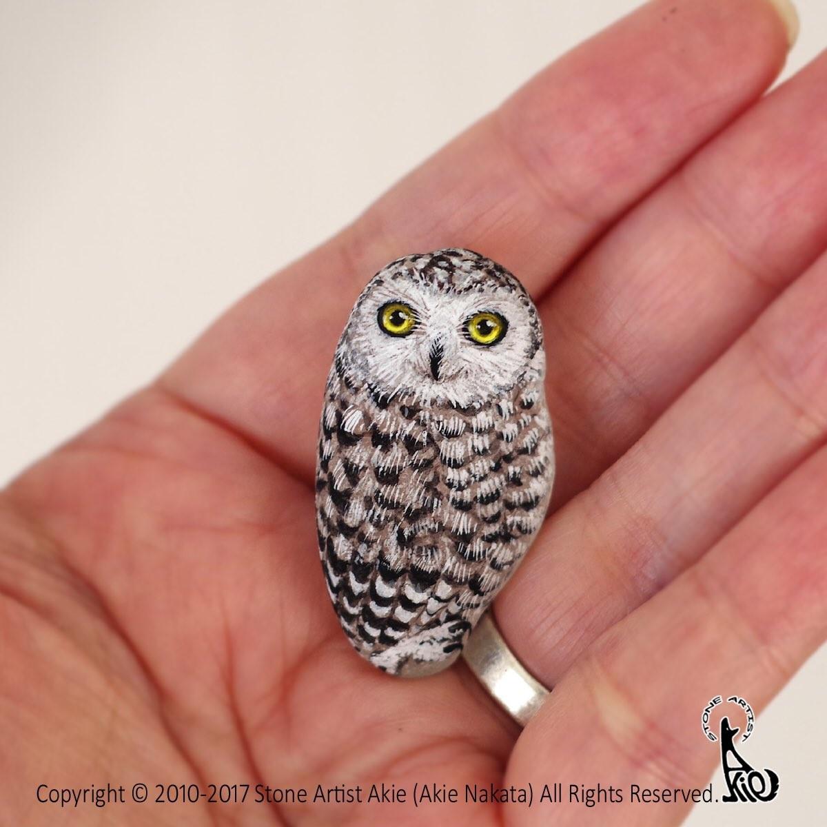 ▲▼藍色鳥鳥在手裡融化啦♪ 仔細看…唉呀怎麼是石頭(圖/翻攝自Twitter)