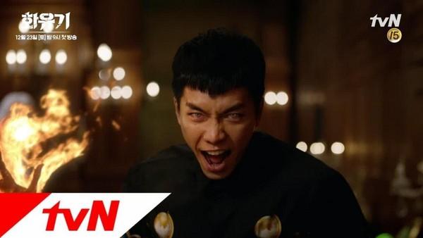 由李昇基主演的《花遊記》也發生工作人員受傷意外,但播出至今集集收視創新高。(翻攝自tvN電視台)