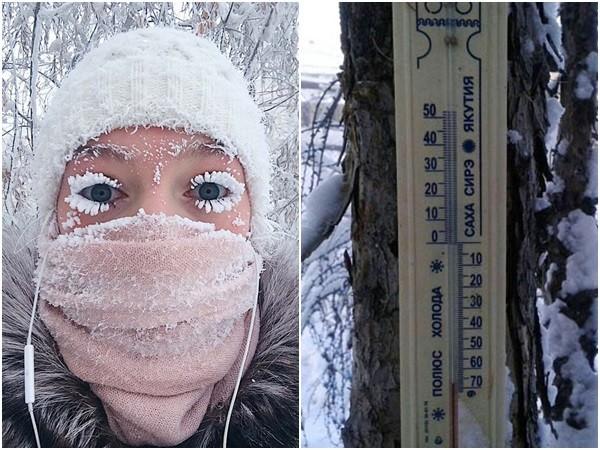 ▲▼西伯利亞村莊「-67℃極寒」 冷到連溫度計都被凍壞!。(圖/翻攝自西伯利亞時報)