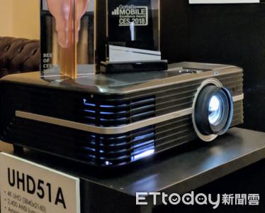 奧圖碼4K家庭劇院投影機內建Alexa