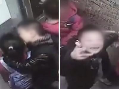 2男2女小學生「電梯裡熱吻」 抬頭赫見監視器…露出邪笑挑釁