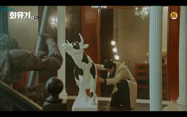 ▲孫悟空把牛魔王的牛畫成乳牛。(圖/翻攝自tvN)