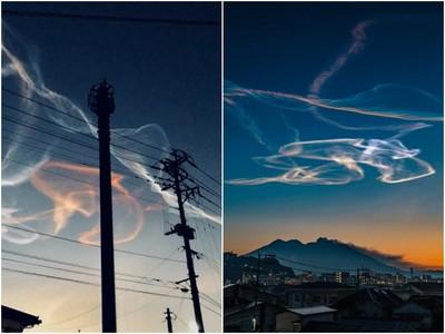 火箭畫出「夜光雲」!鹿兒島發射衛星 天空出現罕見奇觀