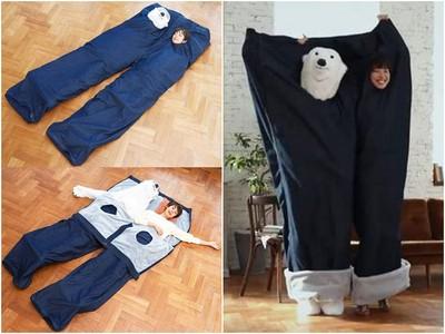 「牛仔褲睡袋」一人塞一管 冬天不怕另一半搶被子啦