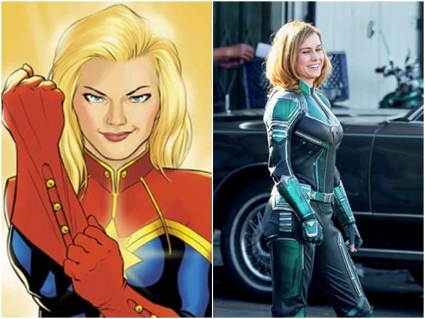 漫威第1部女英雄獨立電影,「驚奇隊長」首次現身。(圖/翻攝自MCU News & Tweets推特、Marvel)