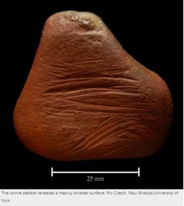 英國出土1萬年前赭石蠟筆!