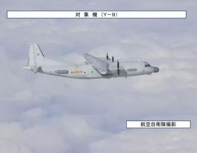 運-9入日防空識別區 自衛隊伴飛跟拍