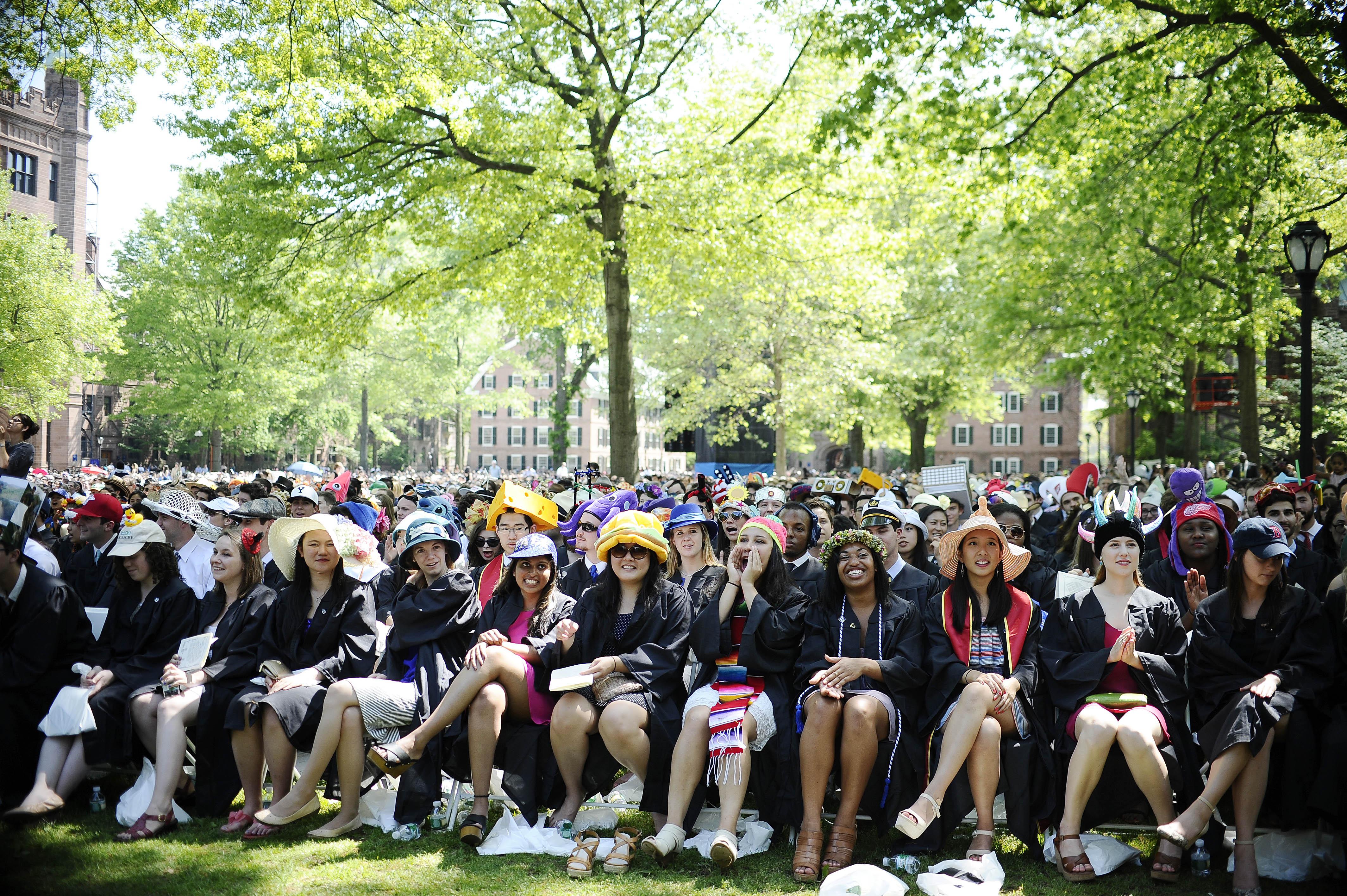 ▲▼耶魯大學學生。(圖/達志影像/美聯社)