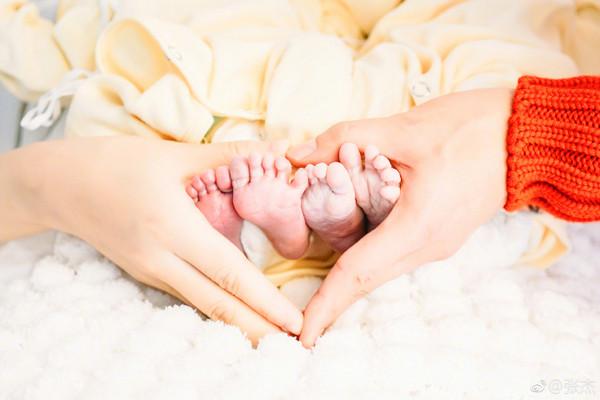 ▲張杰、謝娜小寶寶誕生。(圖/翻攝自張杰微博)