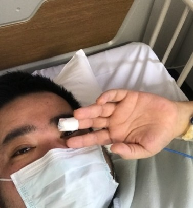 ▲拓也哥自跨年夜前夕就住院至今。(圖/翻攝自拓也哥Blog)