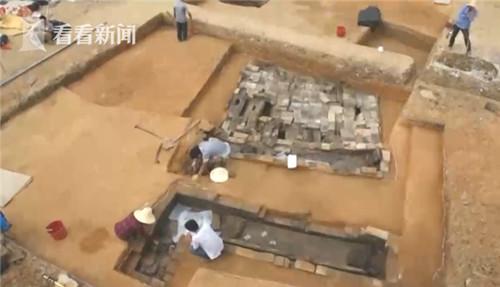 ▲▼南昌古墓群發現2000年前房產證。(圖/翻攝自看看新聞)