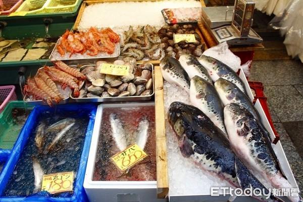 ▲▼大阪黑門市場,海產,生鮮,河豚(圖/記者蔡玟君攝)