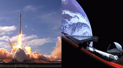 SpaceX火箭成功發射!特斯拉飛往火星