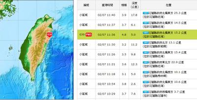 花蓮震不停 氣象局示警:若餘震型態改變「恐再有強震」