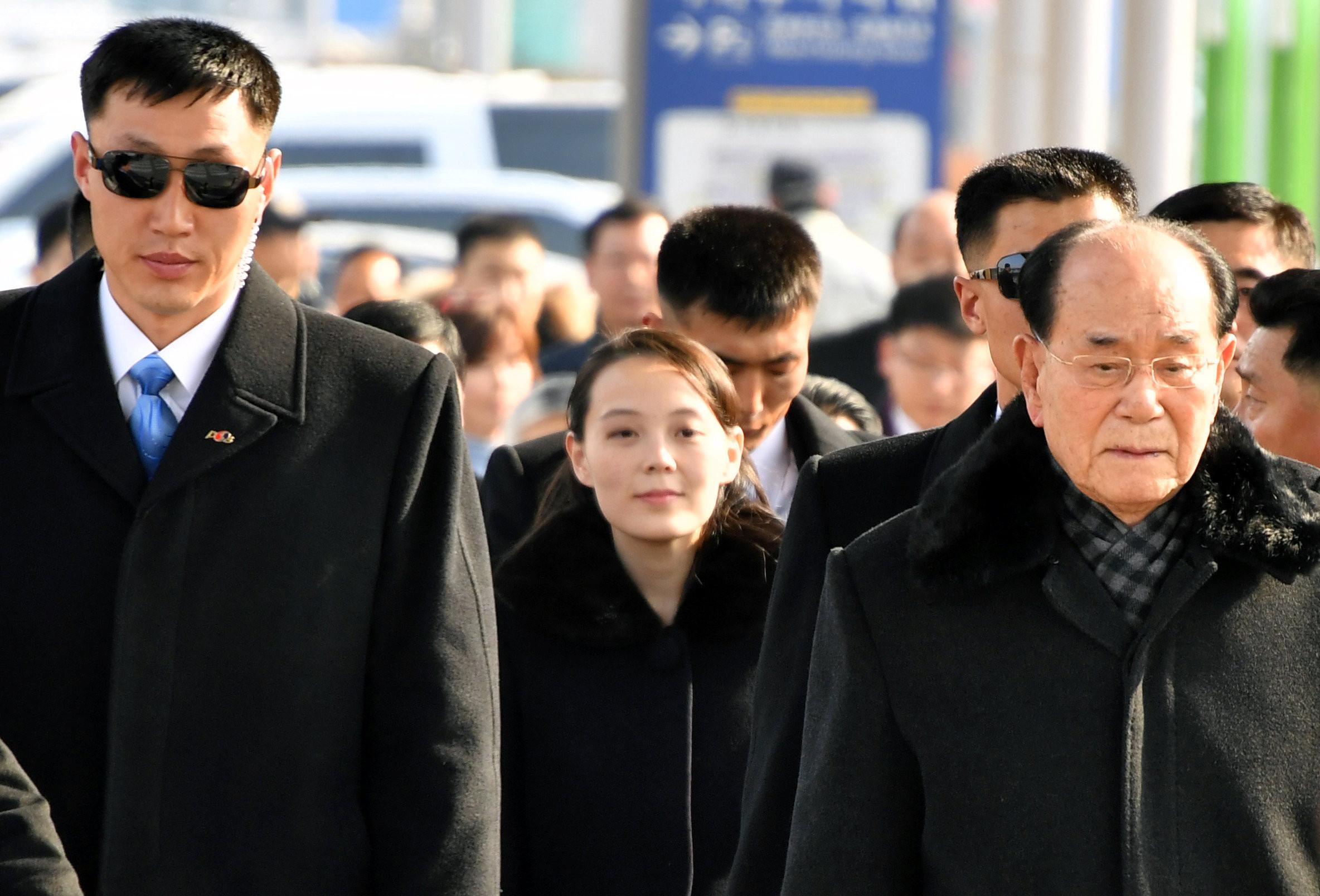 ▲▼金與正抵達南韓             。(圖/路透社)