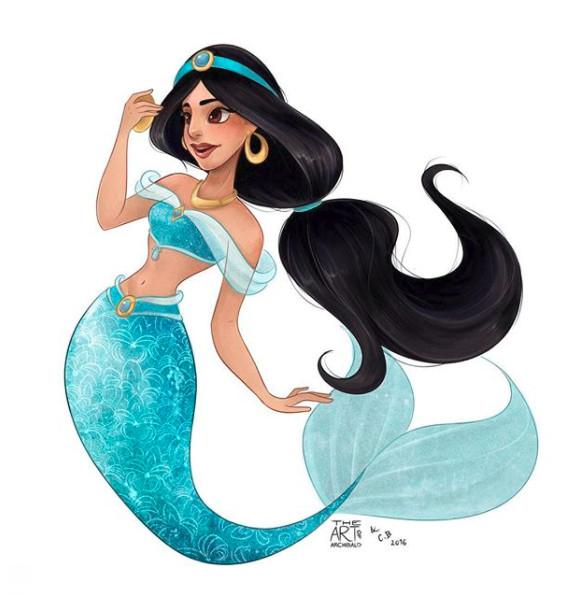▲▼當迪士尼公主全都走進海裡 等等艾莎也去不會結冰嗎(圖/記者莊祐晴攝)