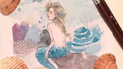 當迪士尼公主全都變成美人魚 等等艾莎不會讓海水結冰嗎?