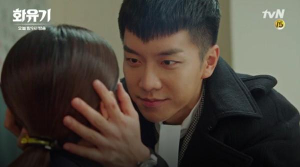 ▲▼李昇基瞬間移動激吻吳漣序。(圖/翻攝自tvN)