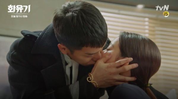 ▲▼ 《花遊記》李昇基3次瞬間移動激吻吳漣序! 捧臉反覆激吻(圖/翻攝自tvN)