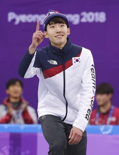 ▲平昌冬奧短道競速滑冰男子1500公尺金牌林孝俊。LIM Hyojun(圖/達志影像/美聯社)