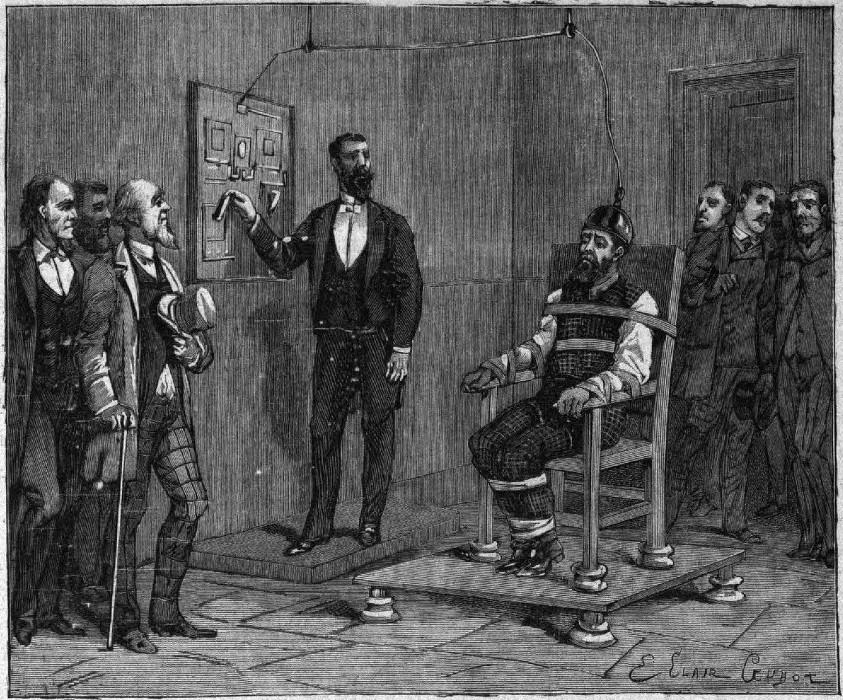 ▲▼世界首張電椅(圖/翻攝自Wikipedia)