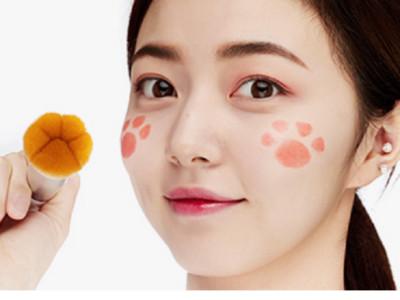 韓美妝推狗狗肉球刷具~沾滿粉印上超可愛腳丫吧