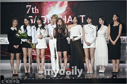 ▲南韓Gaon Chart頒獎典禮,TWICE。(圖/CFP)