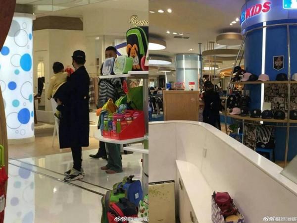▲▼網友晚上逛超市福利,遇到Angelababy。(圖/翻攝自微博)